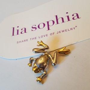 Lia sophia Frog pin